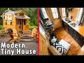 Sophisticated Tiny House with Modern and Manly Interior