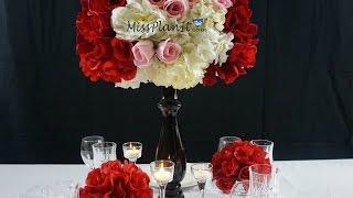 Dollar Tree Inspired:  DIY Having a Ball Valentine's Day Wedding Centerpiece