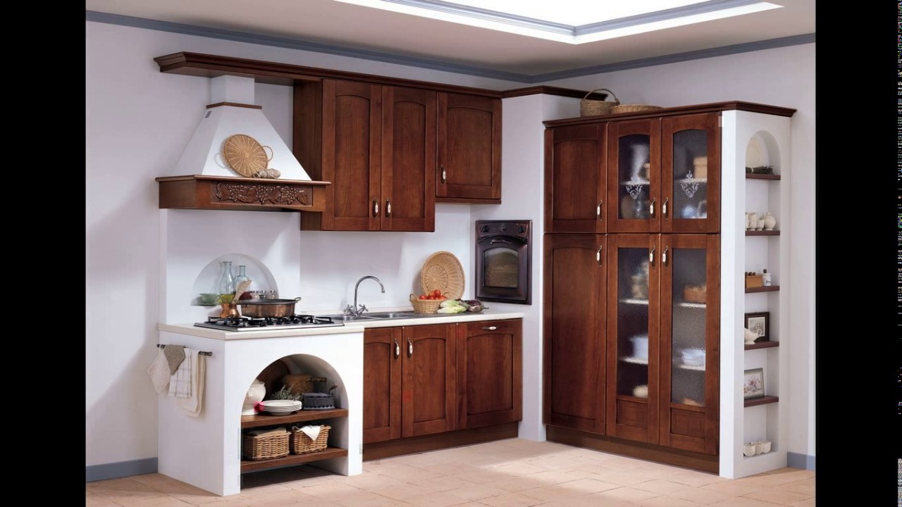Woodwork designs for small kitchen - YouTube