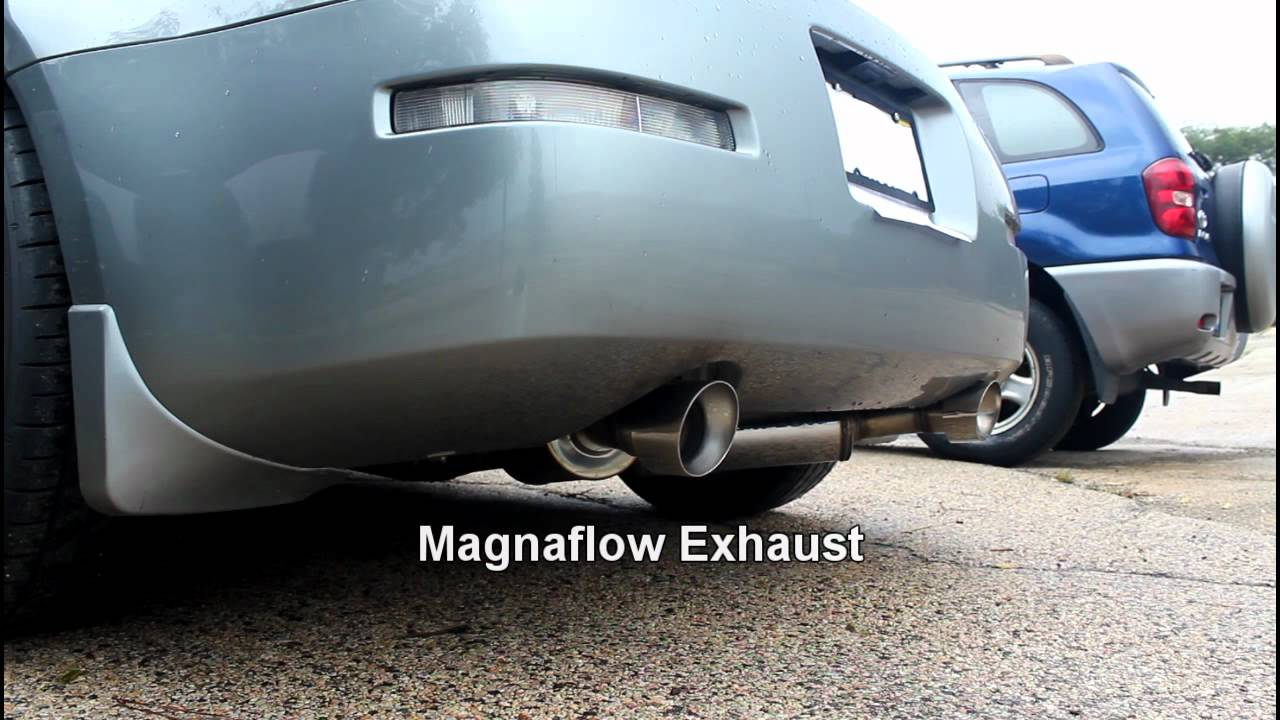 2006 nissan 350z roadster gt stock exhaust vs magnaflow youtube vanachro Choice Image