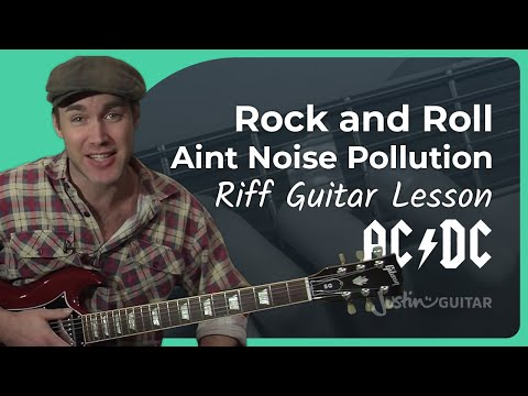 Riff #5: Rock 'n' Roll Ain't Noise Pollution - AC/DC (Songs Guitar Lesson RF-005) How to play