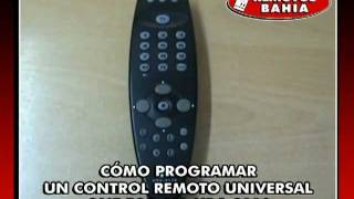 CÓMO PROGRAMAR UN CONTROL REMOTO UNIVERSAL ONE FOR ALL UCR-3110 REMOTOS BAHIA