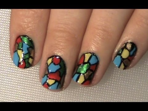 Stained Glass Window Or Mosaic - Nail Art Tutorial