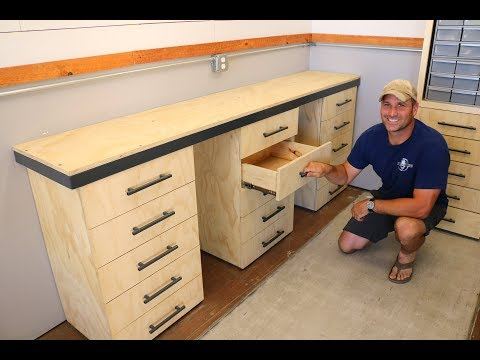 Workbench w/ Drawers Build  -  for the Shipping Container Shop