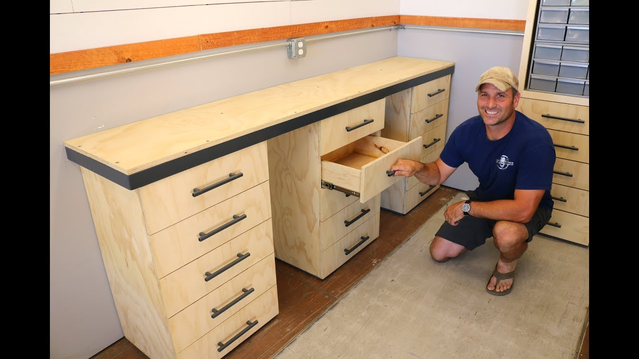 Workbench w/ Drawers Build - for the Shipping Container ...