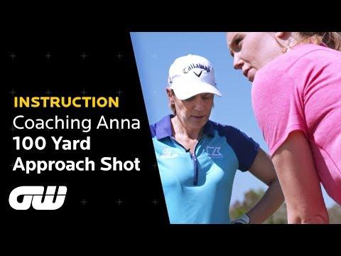 Annika Sörenstam: 3 Tips to Hit 100 Yards | Approach Tips | Coaching Anna | Golfing World