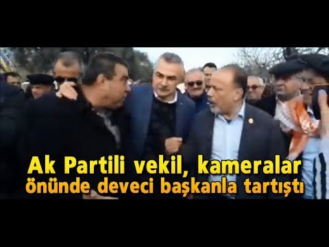 Metin Yavuz, Kameralar önünde Söke Deveciler Dernek Başkanı Muharrem Kaçar'la Tartıştı
