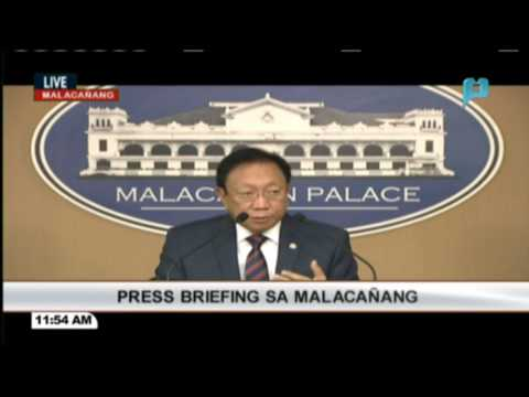 Press briefing ni Solicitor General Jose Calida sa Malacañang
