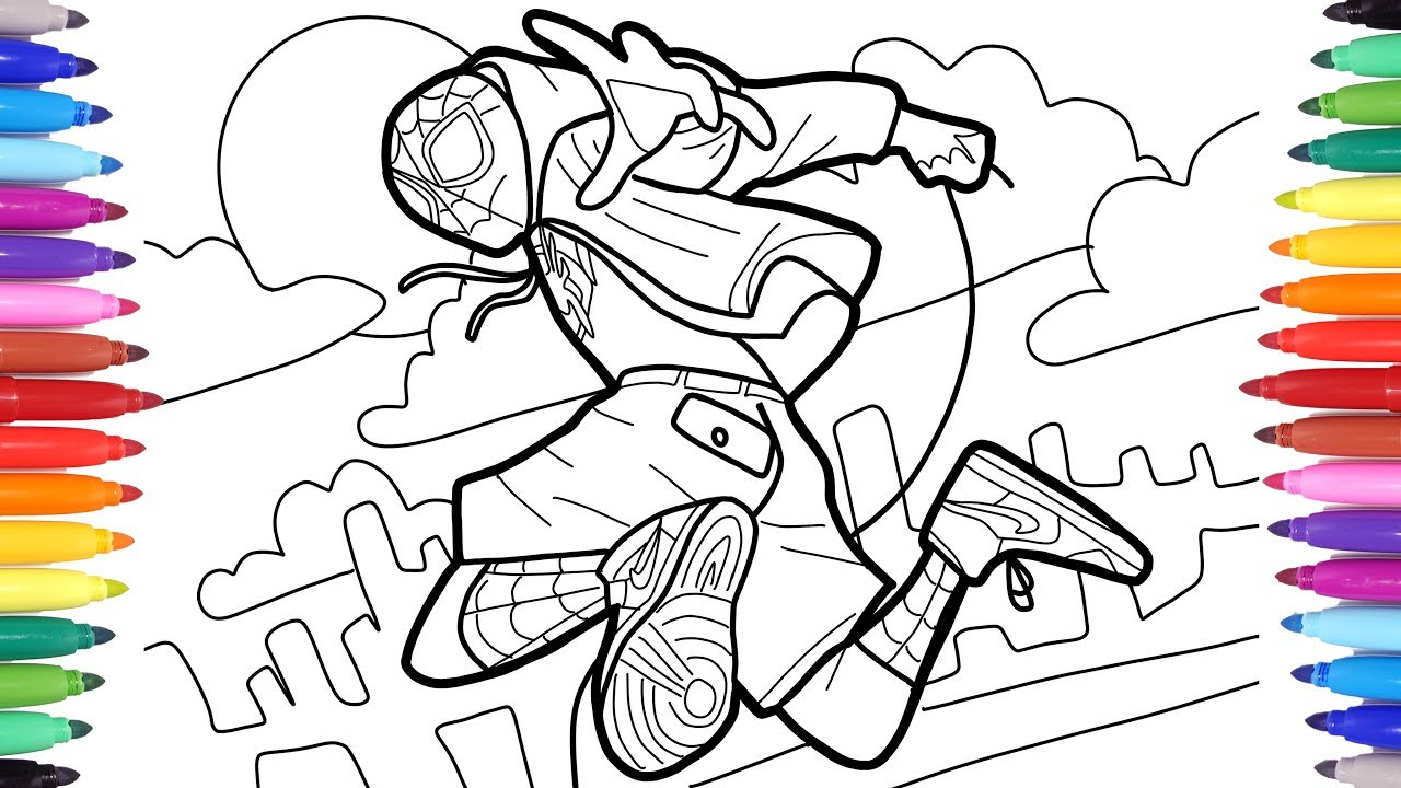 Spider-man Into the Spider-Verse Coloring Pages, How to Draw Spiderman Into  the Spiderverse