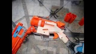 Nerf Shotgun Shells Sledgefire Reloading Trick 2: Better Materials and Sledgefire Shell Ejection Mod Video