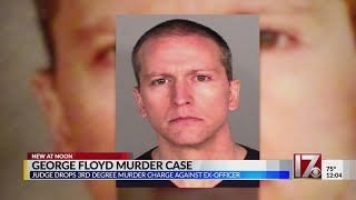 Third-degree murder charge dropped in George Floyd case
