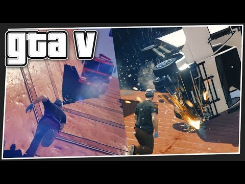 DODGING FALLING CARS | GTA 5 Online