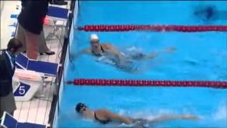 Revoir la course Camille Muffat 400m nage libre JO Londres 2012