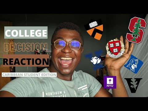 COLLEGE DECISION REACTION 2021: Caribbean Student Edition | Ivies, Stanford, Duke And More…