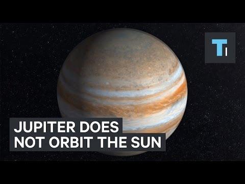 Jupiter does not orbit the sun