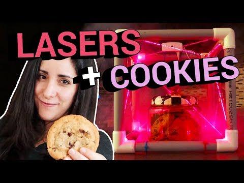 Laser-guarded cookies feat. Estefannie Explains It All