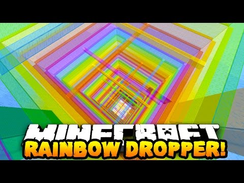 Minecraft RAINBOW DROPPER! (15 Levels of Death!) w/ Preston, Pete, & Kenny