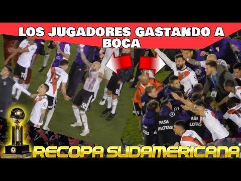 JUGADORES BURLANDOSE DE BOCA CON LA HINCHADA - River Plate vs Paranaense - Recopa 2019