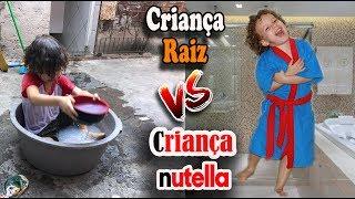 Criança raiz vs criança nutella no verão