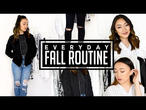 Everyday Fall Routine: Hair, Makeup & Outfit!