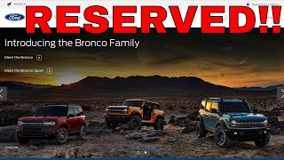 I Ordered A 2021 Bronco! - Which Model Do You Want?