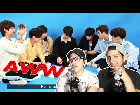 GUYS REACT TO 'BTS Plays With Puppies While Answering Fan Questions'