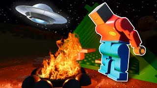 CAMPERS FIND UFO INVASION! - Brick Rigs Multiplayer Gameplay - Investigators Roleplay
