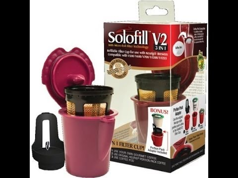 Solofill V2 3 in 1 reusable filter and K-Cup adapter for Keurig Vue
