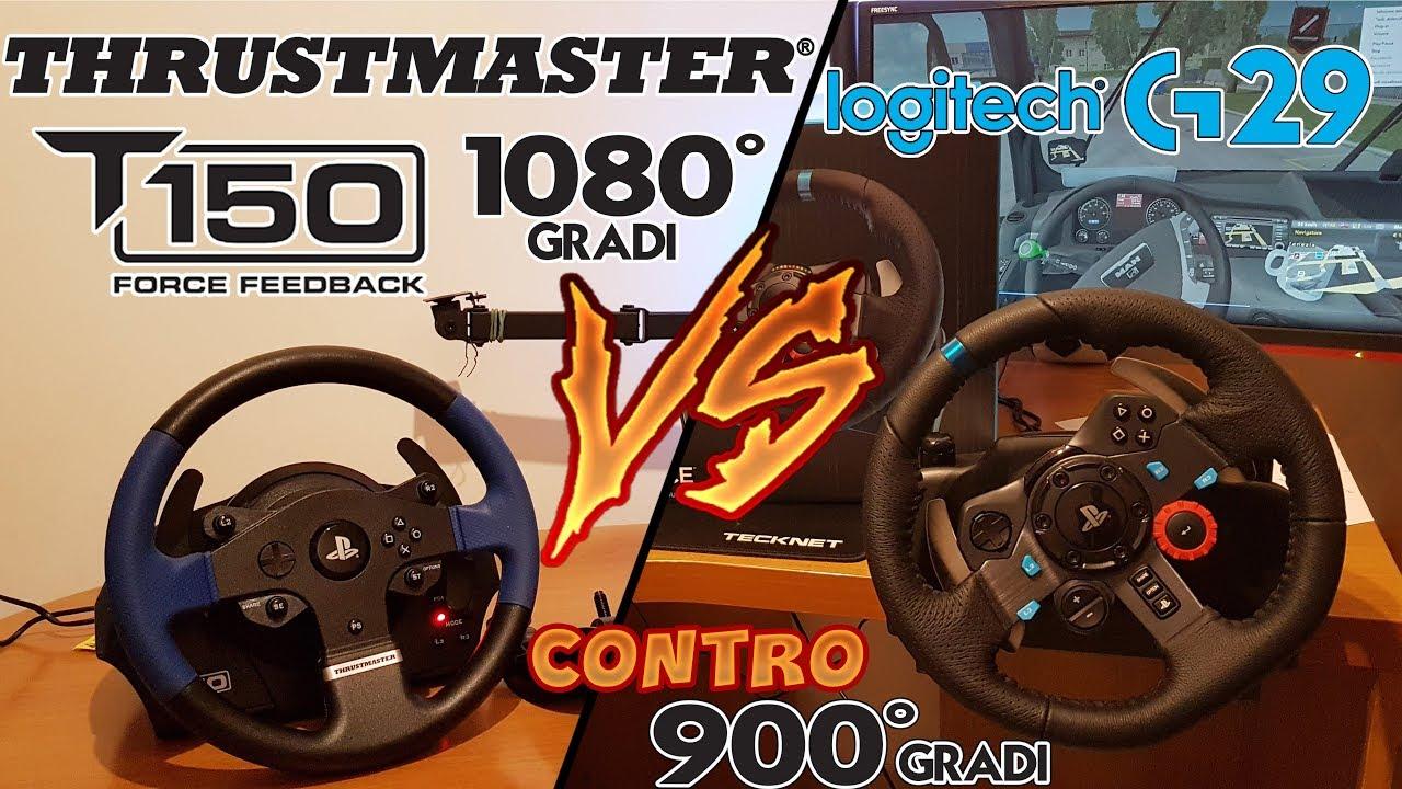 86e890507fa G29 vs T150 - Logitech G29 contro Thrustmaster T150 - PC ITA - YouTube