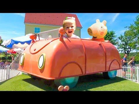 Amusement Park Peppa Pig Video for children Compilation for kids