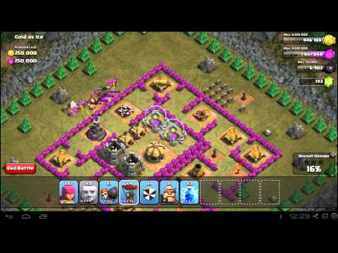 Clash of Clans Cold as Ice 3 Star Campaign Guide TH7 Strategy