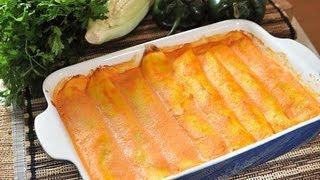 Crepas rellenas de rajas con elote y champiñones - Crepes recipe - Recetas de cocina