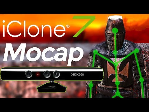 iClone 7 Motion Capture  - Kinect - tutorial