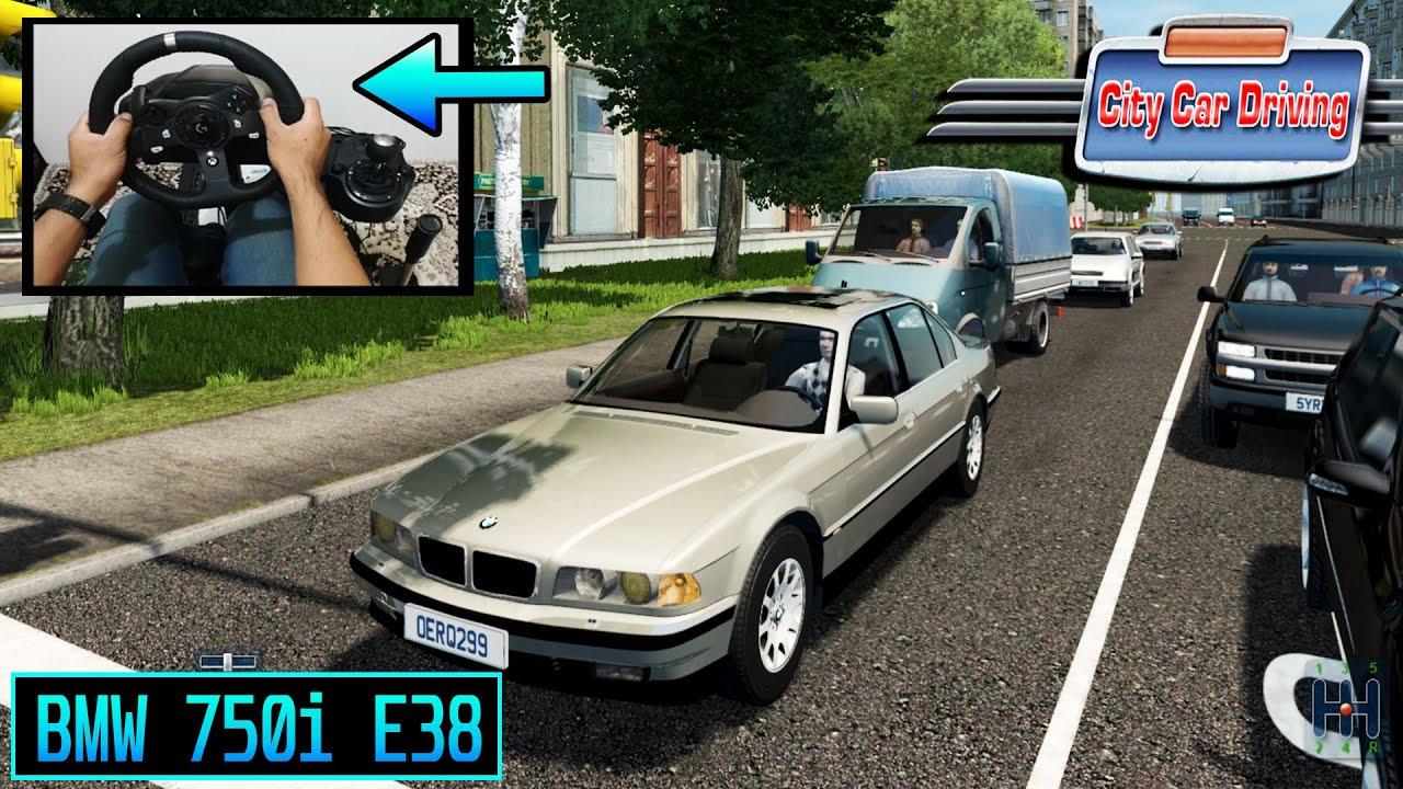 City Car Driving | BMW 750i E38 - Logitech G920 Steering Wheel Gameplay