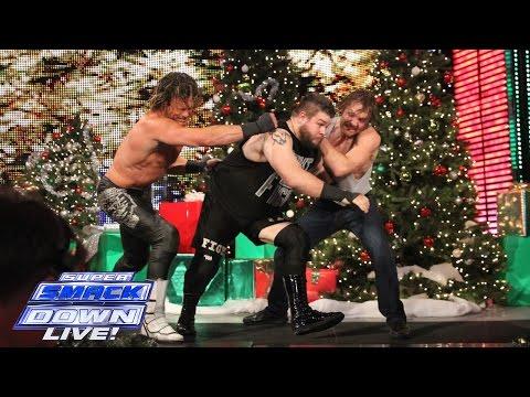 Ambrose vs Ziggler vs Owens - Intercontinental Title Triple Threat: SuperSmackDown, Dec. 22, 2015