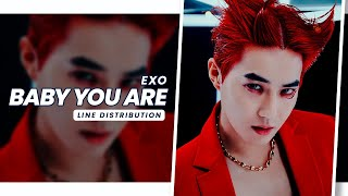 EXO • Baby You Are   Line Distribution