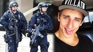 VitalyzdTV SWATTED on VIDEO! YouTuber STALKER GOES INSANE, Casper Lee Car CRASH!