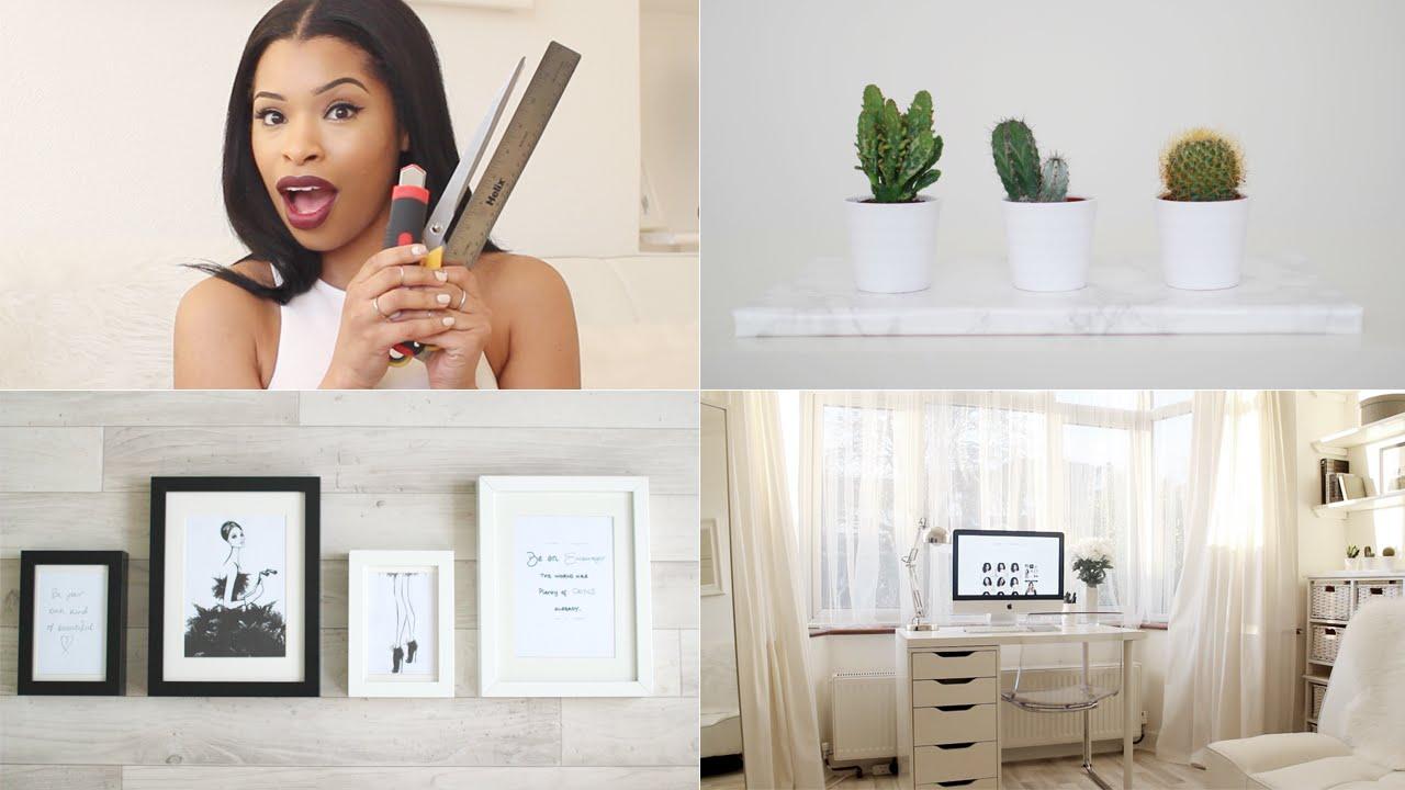 3 easy home office room diys tour diy u0026 interior youtube