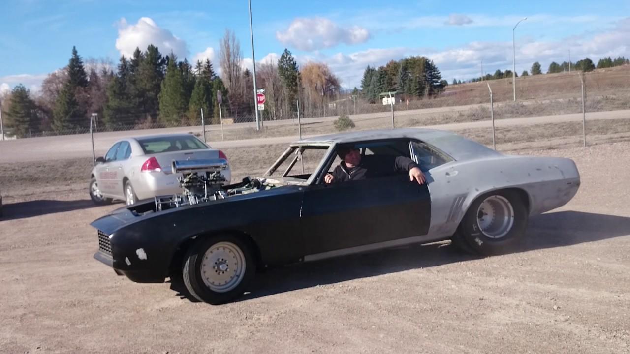 69 camaro drag car - YouTube