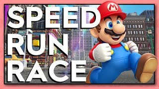 Super Mario Odyssey SPEED RUN RACE!!!