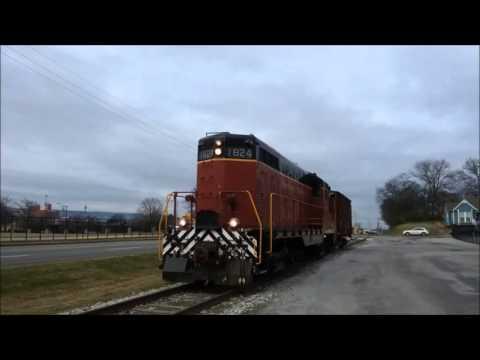 HD TVRM GP7L 1824 pulling freight on Holtzclaw Avenue