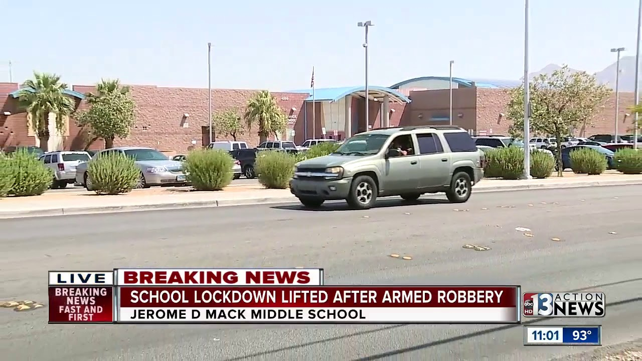 Las Vegas middle school placed on lockdown on first day