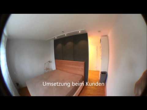 begehbarer Cabinet Kleiderschrank als Raumteiler in einem Schlafzimmer von DÖRR in Mannheim
