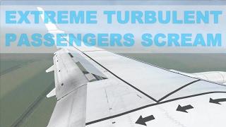 [FSX] EXTREME TURBULENCE LANDING - B737-800 KLM @SCHIPHOL - PASSENGERS SCREAMING [HD]