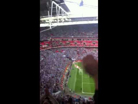Man City blue moon at wembley FA cup SemiFinal 2013