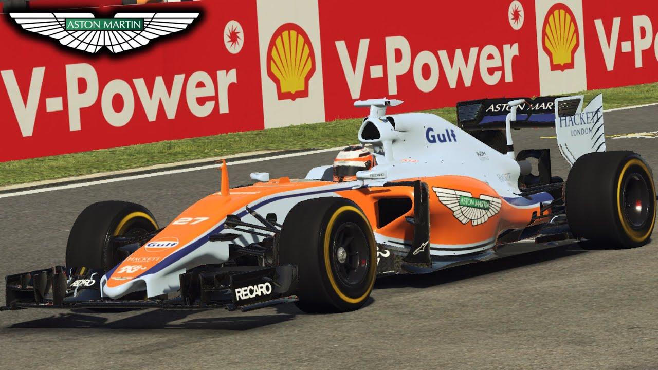 f1 2016 aston martin racing concept: race at spa! (f1 2015 pc mod