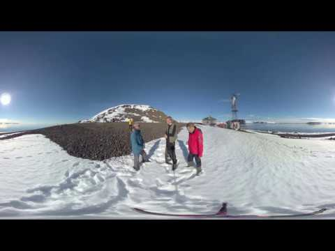 North Pole: Russian Arctic National Park Rangers talk (360° VR)