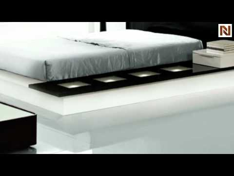 impera modern-contemporary lacquer platform bed vgwcimpera - youtube