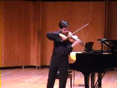 Violin Virtuoso Stefan Tarara plays Ysaye Solo Sonata No. 2 (1/2)