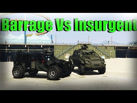 Gta 5 Online | Barrage Vs Insurgent Pick Up Custom - Armor, Speed, And More